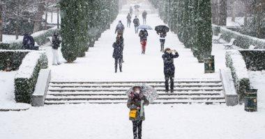 """""""مدريد تتجمد"""" العاصمة الإسبانية تتعرض لأشد تساقط للثلوج منذ عقود.. صور"""