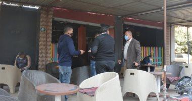 ضبط 15 شيشة بمقهى وتحرير 20 محضر مخالفة خلال حملة تفتيشية بالقليوبية