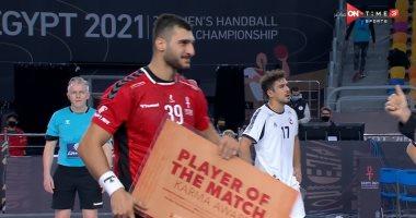 يحيى الدرع أفضل لاعب في مباراة مصر وتشيلي