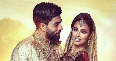 السعودية نيوز |                                               رنا سماحة وزوجها سامر أبو طالب في جلسة تصوير بالملابس الهندية