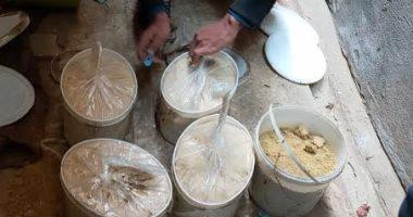صورة ضبط 2.75 طن فلفل أسمر وقرفة مخزنة بطريقة خطرة وإعدام 418 كيلو أغذية فاسدة بالدقهلية