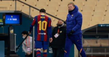 ليونيل ميسي يتعرض للطرد للمرة الأولى في تاريخه مع برشلونة .. فيديو