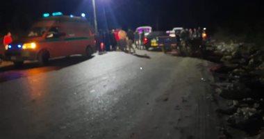 صورة مصرع طالب وإصابة إثنين آخرين فى حادث إنقلاب دراجة بخارية ببنى سويف