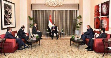 الرئيس السيسى يلتقى رئيس وزراء الأردن فى العاصمة عمان
