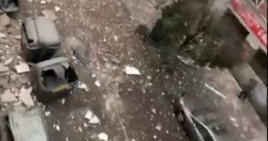 اللحظات الأولى بعد وقوع انفجار ضخم فى العاصمة الإسبانية مدريد.. فيديو وصور