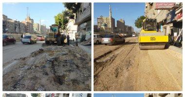 محافظة الجيزة تشن حملات لرفع الإشغالات وغلق المنشآت المخالفة والأسواق الأسبوعية