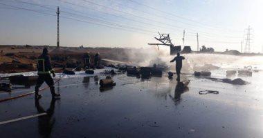 فيديو وصور جديدة ترصد لحظة انفجار سيارة أسطوانات بوتاجاز بطريق الإسماعيلية