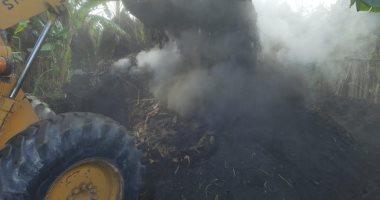 إزالة مكمورة فحم مخالفة بقرية البساتين بدمياط