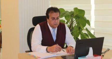 وزير التعليم العالي يعتمد نظام القبول الإلكترونى بالجامعات الخاصة والأهلية
