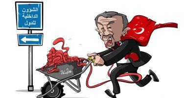 السعودية نيوز |                                              أردوغان يتدخل فى شئون الدول الأخرى فى كاريكاتير سعودى