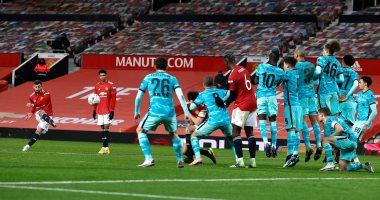 برونو فيرنانديز يتفوق على نجوم إنجلترا بعد هدف تأهل مان يونايتد ضد ليفربول