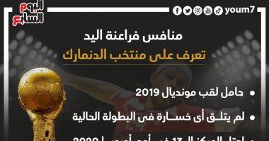 إنفو جراف.. تعرف على منتخب الدنمارك منافس مصر بدور الـ8 بكأس العالم لليد