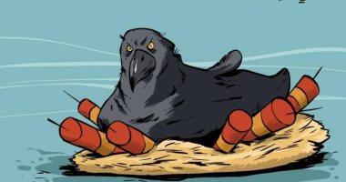 """كاريكاتير صحيفة إماراتية.. الإرهاب """"وحش"""" يهدد العراق"""