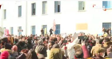 الحزب الدستوري الحر فى تونس يعلن بدء اعتصام داخل البرلمان