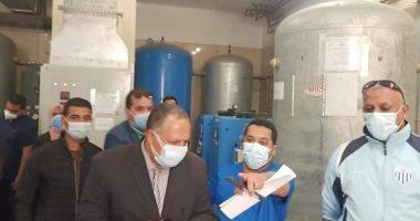 سكرتير مساعد أسيوط يتفقد مستشفى أبوتيج النموذجى لمتابعة شبكات الأكسجين