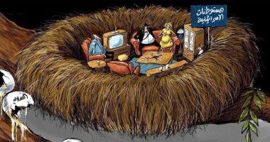 السعودية نيوز                                                المستوطنات الإسرائيلية تهدم فرص السلام فى كاريكاتير سعودي
