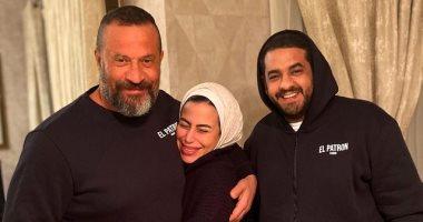 """ماهيتاب ماجد المصرى تكشف عن صورة جديدة مع والدها بعد إصابته فى تصوير """"الملك"""""""