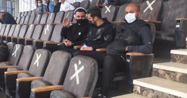 عبد الله السعيد ودودو الجباس يحضران مباراة بيراميدز وراسينج كلوب من المدرجات