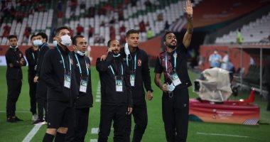 أجواء الملعب فى اللحظات الآخيرة  قبل مباراة الأهلي والدحيل.. فيديو
