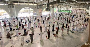 السعودية نيوز |                                              10 صور لتطبيق إجراءات الوقاية بين المصلين خلال صلاة الجمعة بالمسجد الحرام