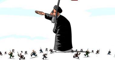 السعودية نيوز |                                              مرشد إيران يحرك المليشيات الإرهابية فى كاريكاتير سعودى
