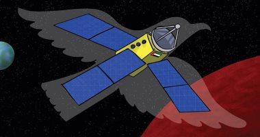 """كاريكاتير صحيفة إماراتية.. مسبار الأمل يخترق """"المريخ"""""""