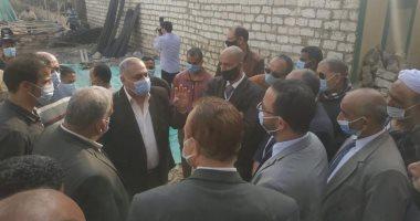"""وفد حكومى يتابع معدلات الإنجاز فى قرى """"حياة كريمة"""" بمحافظة المنيا"""