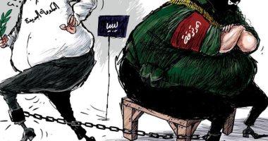 الميليشيات فى ليبيا تقيد عمل الحكومة الجديدة فى كايكاتير سعودى