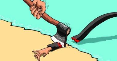 كاريكاتير سعودي: المملكة سلم لمن سالمها وقبر لمن عاداها