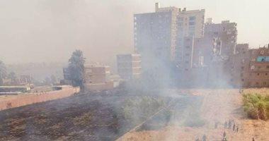الحماية المدنية تسيطر على حريق نشب فى 5 قراريط قصب بقنا