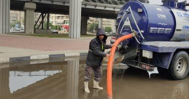 القابضة للمياه: سحب تجمعات الأمطار بالقاهرة والجيزة