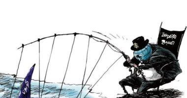 """قادة دول مجموعة السبع يحاولون صيد """"كورونا"""" فى كاريكاتير إماراتى"""