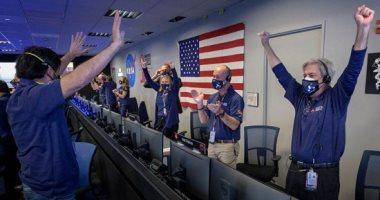 الانسان الآلى على الكوكب الأحمر..  ناسا تحتفل بوصول الروبوت إلى المريخ..ألبوم صور