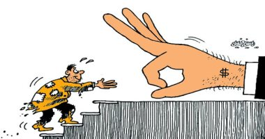 كاريكاتير صحيفة عمانية.. القوى الكبرى تطيح بالفقراء للاحتفاظ بالهيمنة