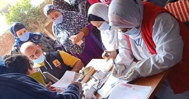 توقيع الكشف الطبى بالمجان على 600 مواطن بقرية كفر حشاد بالغربية