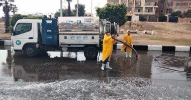 سحب تجمعات مياه الأمطار من الإسماعيلية وبورسعيد وطوارئ بالسويس.. صور