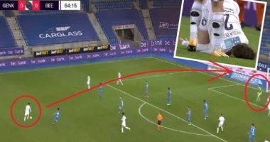 الضربة الساحقة تظهر ملاعب بلجيكا.. لاعب بيرتشوت يسجل هدفا عالميا من 35 مترا