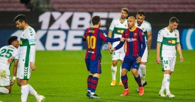 ترتيب الدوري الاسباني بعد فوز برشلونة ضد إلتشي