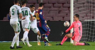 برشلونة يستعيد المركز الثالث فى الليجا بثلاثية رائعة بشباك إليتشي.. فيديو