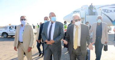محافظ جنوب سيناء يستقبل وزير الزراعة لتفقد المشروعات الزراعية