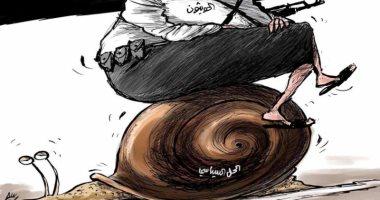 السعودية نيوز |                                              مليشيا الحوثى لا تريد الحل السياسى فى اليمن بكاريكاتير سعودى