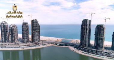 الحكومة تعلن إنهاء الهيكل الخرسانى لـ15 برجا بالمنطقة الشاطئية فى العلمين الجديدة