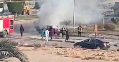 السيطرة على حريق سيارة ملاكى دون خسائر بشرية في العاشر من رمضان
