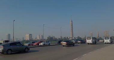 شاهد حركة المرور أعلى كوبرى أكتوبر بعد عودة الموظفين من الإجازة.. بث مباشر