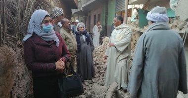 انهيار منزل مكون من طابقين دون خسائر بشرية بقنا