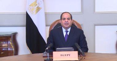الرئيس السيسي: يسعدنا مشاركة تجربة مصر الرائدة فى مشروعات البنية التحتية.. فيديو
