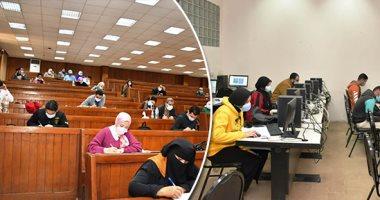 تقرير لا يفوتك.. تعقيم قاعات الامتحانات بجامعة القاهرة للوقاية من كورونا