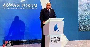وزير الخارجية: منتدى أسوان يركز على إيجاد حلول مبتكرة لآثار جائحة كورونا