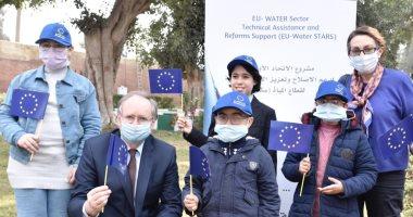 """وزير """"الموارد المائية"""" وسفير الاتحاد الأوروبى بالقاهرة يكرمان سفراء المياه"""