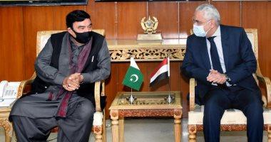 وزير داخلية باكستان يبحث مع سفير مصر تعزيز العلاقات الثنائية